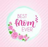 Kort för hälsning för dag för moder` s royaltyfri illustrationer