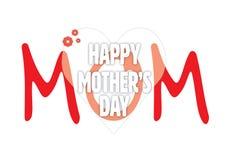 Kort för hälsning för dag för moder` s Vektor Illustrationer