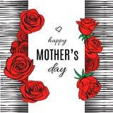 Kort för hälsning för dag för moder` s vektor Stock Illustrationer