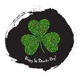 Kort för hälsning för dag för St Patrick ` s Arkivfoto