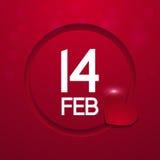 Kort för hälsning för dag för valentin` s på röd bakgrund Royaltyfria Bilder