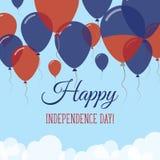 Kort för hälsning för Haiti självständighetsdagenlägenhet Royaltyfri Illustrationer