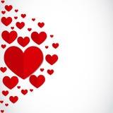 Kort för hälsning för hjärtor för valentindag pappers- Royaltyfri Bild