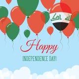 Kort för hälsning för Irak självständighetsdagenlägenhet Royaltyfri Illustrationer