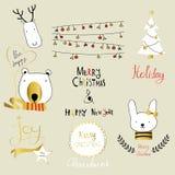 Kort för hälsning för jul för förälskelse för ljusa svarta rosa färgblått guld- med rab Royaltyfria Foton