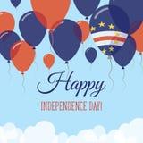 Kort för hälsning för Kap Verdesjälvständighetsdagenlägenhet Stock Illustrationer