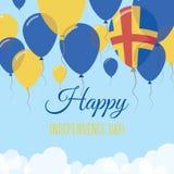 Kort för hälsning för lägenhet för Aland ösjälvständighetsdagen Royaltyfri Illustrationer