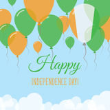 Kort för hälsning för lägenhet för skjulDIvoire självständighetsdagen Royaltyfri Illustrationer