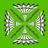 Kort för hälsning för livlig gräsplan för vektorjul Royaltyfria Bilder