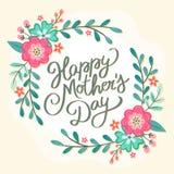 Kort för hälsning för lycklig dag för moder` s blom- Arkivfoton