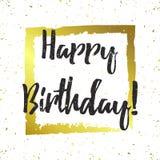 Kort för hälsning för lycklig födelsedag för vektor Arkivbild