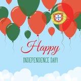 Kort för hälsning för Portugal självständighetsdagenlägenhet Stock Illustrationer