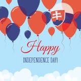 Kort för hälsning för Slovakien självständighetsdagenlägenhet Stock Illustrationer