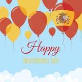 Kort för hälsning för Spanien självständighetsdagenlägenhet Royaltyfri Illustrationer
