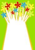 Kort för hälsning för vårblommaträd Royaltyfri Fotografi