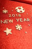 Kort för hälsning för ` s för nytt år 2018 Arkivbild