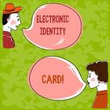 Kort för identitet för handskrifttext elektroniskt Räcker den digitala lösningen för begreppsbetydelsen för provexemplar av ident arkivfoto