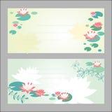 Kort för inbjudan för Lotus blomma Royaltyfri Foto