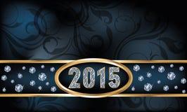 kort 2015 för inbjudan för nytt år för diamant Arkivbild