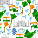 Kort för Indien självständighetsdagenhälsning Th för beröm 15 av Augusti royaltyfri illustrationer
