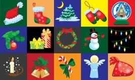 Kort för juldesignmall Royaltyfria Bilder