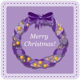 Kort för juldesignmall Fotografering för Bildbyråer