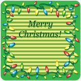Kort för juldesignmall Royaltyfri Foto
