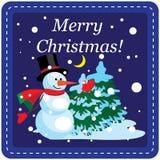 Kort för juldesignmall Arkivfoto