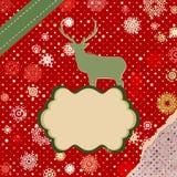 Kort för julhjorttempate. EPS 8 Royaltyfri Bild