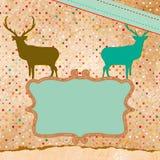 Kort för julhjorttempate. EPS 8 Arkivfoto