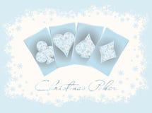 Kort för julkasinoinbjudan Royaltyfri Fotografi