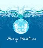 Kort för julramstil Arkivfoto
