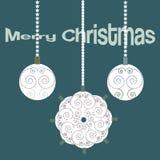 Kort för jultappningelegand med dekorativa bollar Arkivbilder