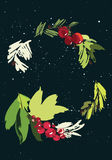 Kort för julvektorhälsning Arkivfoton