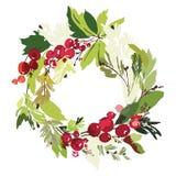 Kort för julvektorhälsning Royaltyfria Foton