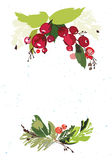 Kort för julvektorhälsning Arkivfoto