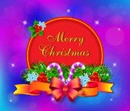 Kort för julvektorillustration stock illustrationer