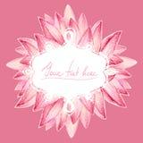 Kort för Lotus kronbladdesign Royaltyfri Fotografi