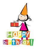 Kort för lycklig födelsedag royaltyfri illustrationer