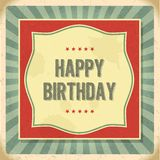 Kort för lycklig födelsedag för tappning retro Royaltyfria Foton