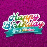 Kort för lycklig födelsedag och gratulationerhälsning Födelsedagvektor Eps10 Royaltyfri Foto