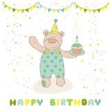 Kort för lycklig födelsedag och parti royaltyfri illustrationer