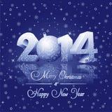 Kort för lyckligt nytt år Arkivfoto