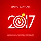 Kort för lyckligt nytt år 2017 stock illustrationer