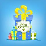 2018 kort för lyckligt nytt år nytt år för gåvor Text för glad jul stock illustrationer