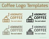 Kort för mall och för affär för logo för kaffekafésymbol stock illustrationer