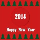 Kort 2014 för nytt år Royaltyfria Bilder