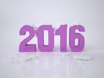 Kort 2016 för nytt år Royaltyfria Bilder