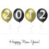 Kort för nytt år för ballong Royaltyfri Bild