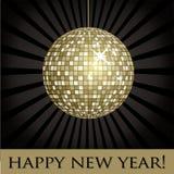 Kort för nytt år för Mirrior boll Royaltyfri Fotografi